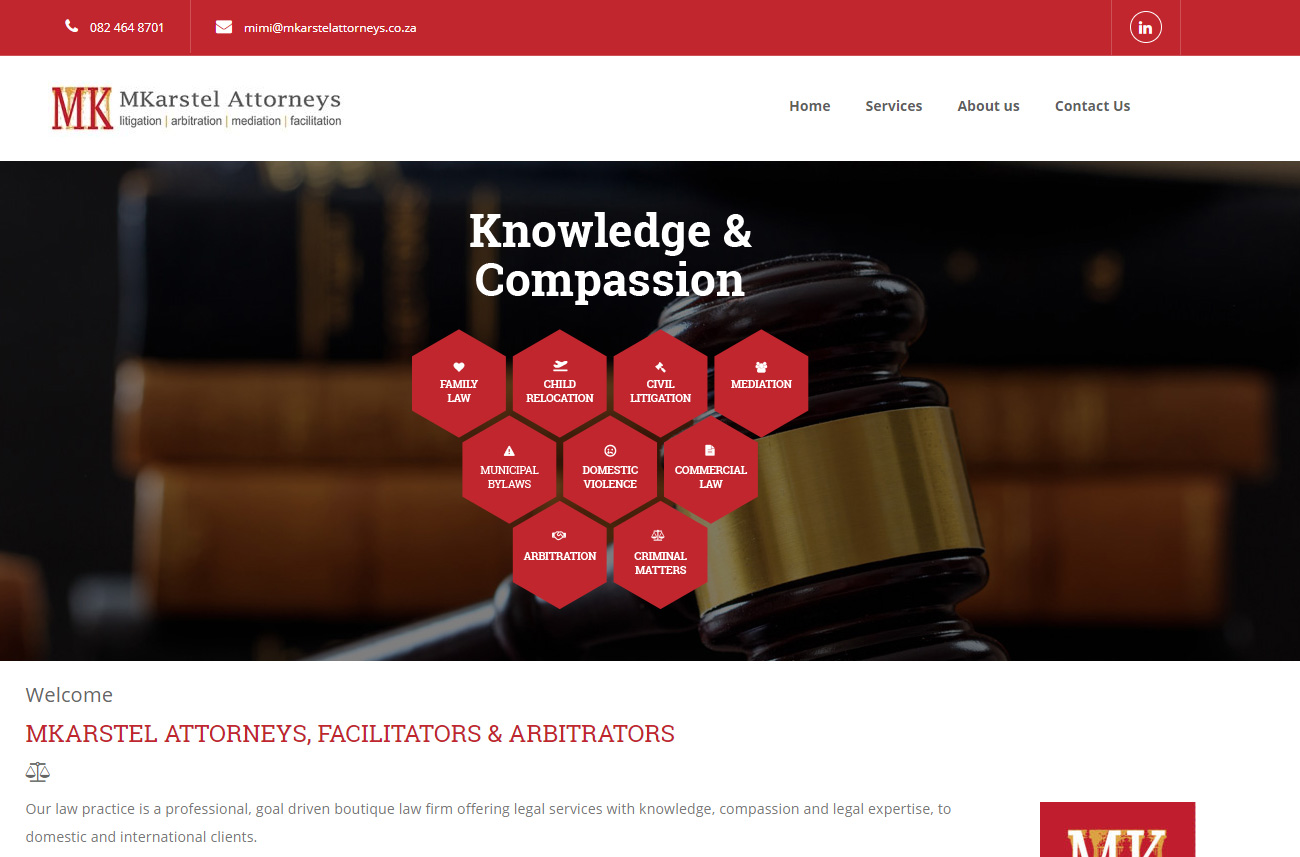 Launch of the MKarstel Attorneys Corporate website.