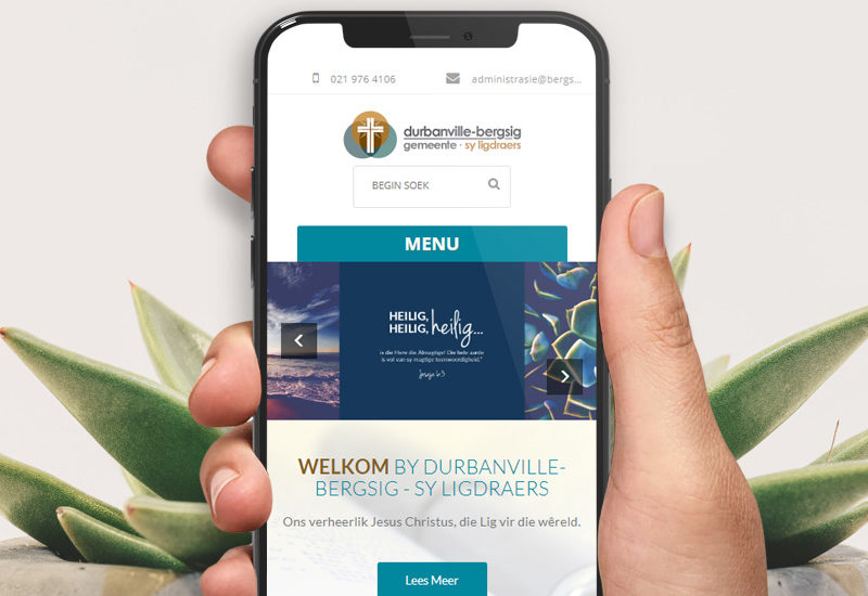 Our involvement with the Durbanville Bergsig Dutch Reformed church span over many years. As such our collaboration encompasses a number of services which is provided throughout the year. With the website development the clear focus was on selecting a theme which could be refreshed annually by updating the imagery on the site. We focus on some social media content as well as ad hoc content updates to the site. Supporting services also include consultation, hosting and SEO. To view the website click here>>